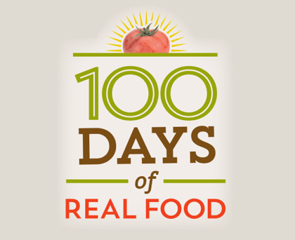 "Announcement: ""100 Days of Real Food"" Tips!"