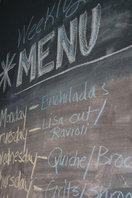 weekly menu - A personal food journal