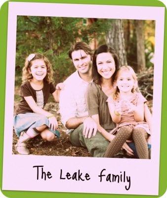 Family portrait of the Leake family.