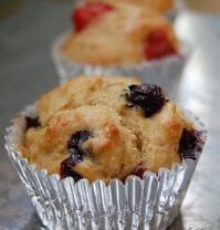 Recipe: Fruit, Nut, or Berry (or whatever you want them to be) Whole-Wheat Muffins