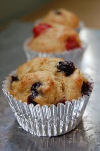 Fruit, Nut, or Berry (or whatever you want them to be) Whole-Wheat Muffins