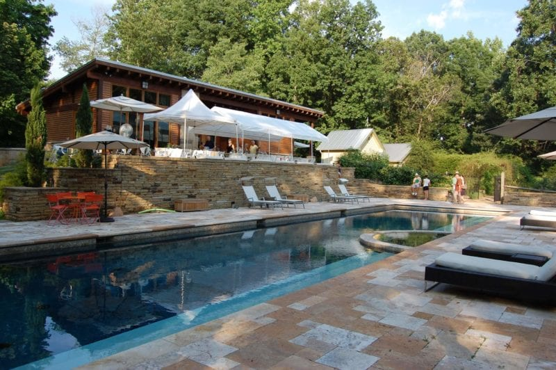 Pool view at the Poplar Ridge Farm in North Carolina.