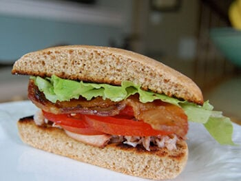 Crab blt on 100 Days of Real Food