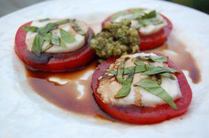 Caprese Salad with Basil Pesto