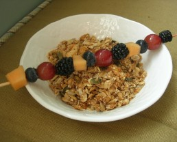 granola and kabob