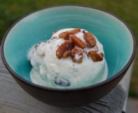Homemade Maple Pecan Ice Cream