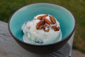 Homemade Maple Pecan Ice Cream