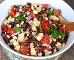 Corn, Black Bean and Tomato Salad on 100 Days of #RealFood