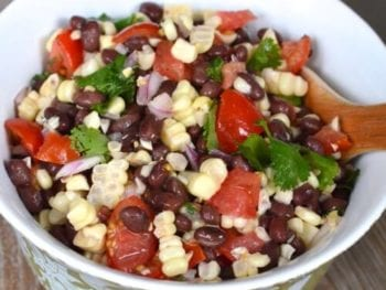 Tomato, Corn &  Black Bean Side Salad (or dip if you want it to be)