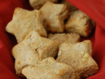 star biscuits 350x263 - Whole-Wheat Buttermilk Cheese Biscuits