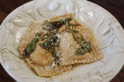 butternut squash ravioli on 100 Days of #RealFood