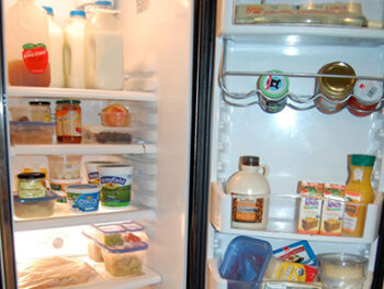 real food fridge on 100 Days of Real Food