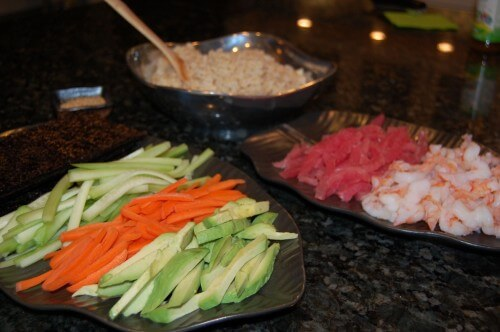 Recipe - Homemade Sushi (with brown rice) from 100 Days of Real Food