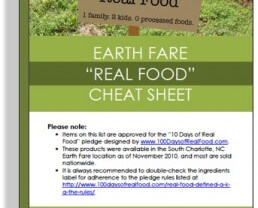 "Supermarket Real Food ""Cheat Sheet"""