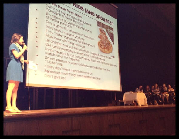 Lisa Leake with 100 Days of Real Food