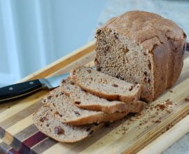 Cinnamon Raisin Bread from 100 Days of Real Food