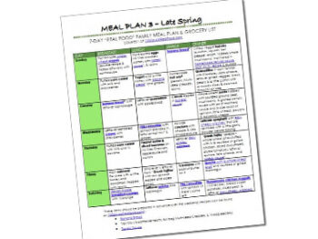 Free meal plan on 100 Days of Real Food