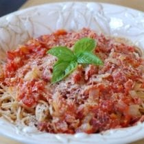 Recipe Simple Spaghetti from 100 Days of Real Food