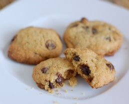 Whole-Wheat Chocolate Chip Cookies (with sugar!)