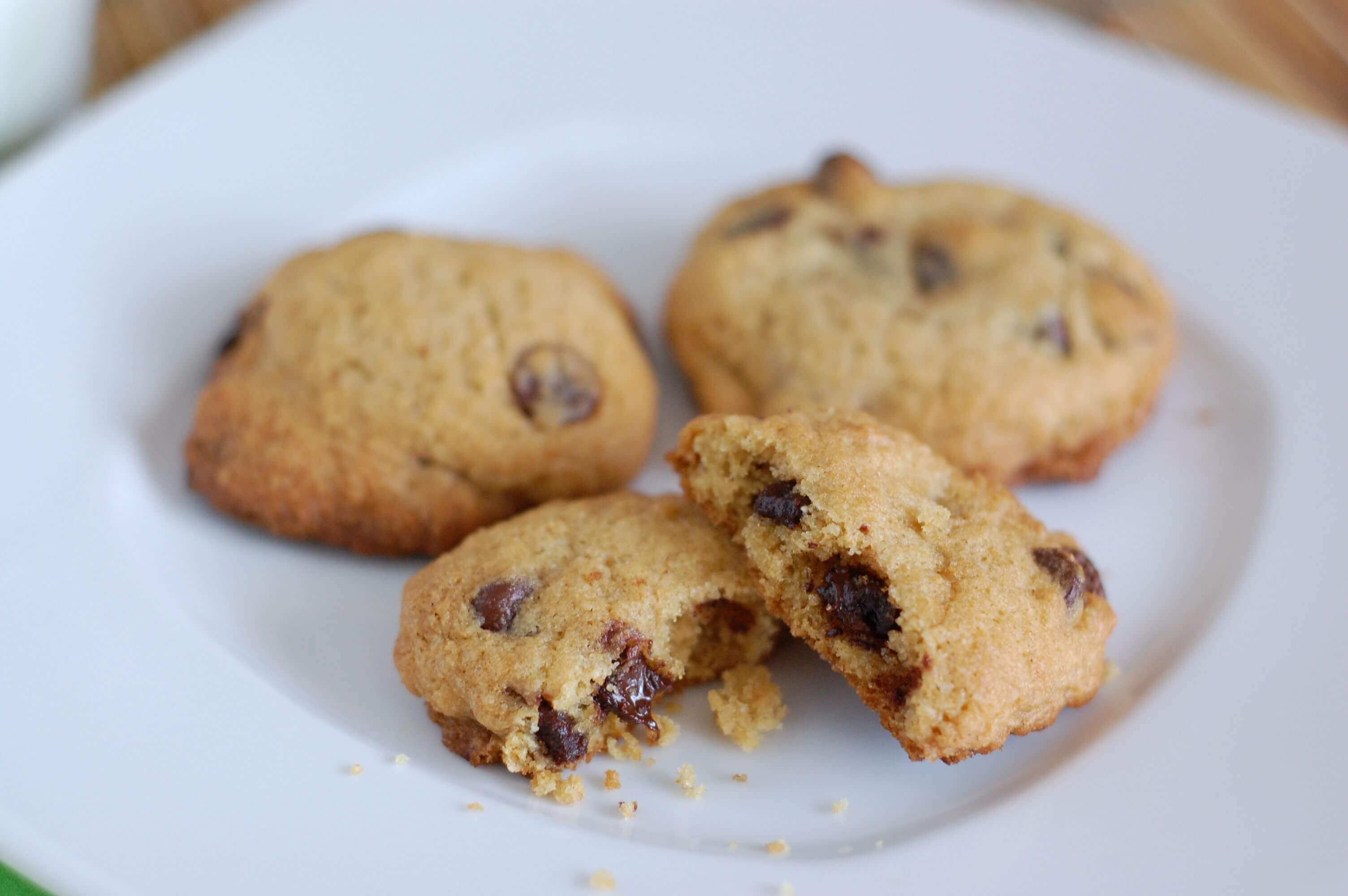 Whole Wheat Chocolate Chip Cookies With Sugar