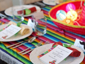 mexican themed party on 100 Days of Real Food