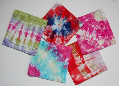 DIY Reusable Tie Dye Lunchbox Napkins