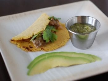 Pork Carnitas Tacos with Tomatillo Salsa