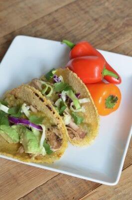 Slow Cooker Pork Carnitas Tacos on 100 Days of Real Food