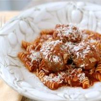meatballs 210x210 - Whole-Wheat Spaghetti and Meatballs