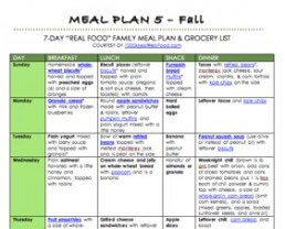 """Free Fall """"Real Food"""" Meal Plan!"""
