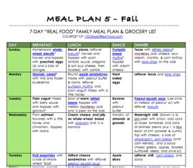 Diet plan with real food