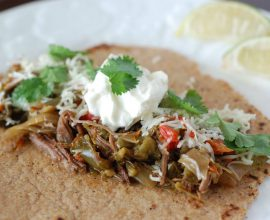 Slow Cooker Flank Steak Fajitas from 100 Days of Real Food