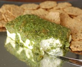Pesto Cream Cheese Bake from 100 Days of Real Food