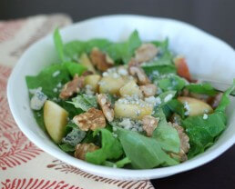 Blue Cheese, Walnut, Apple Salad