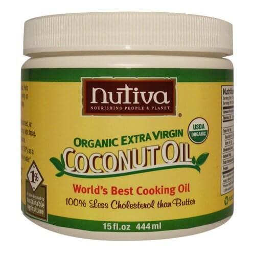 Food with coconut oil