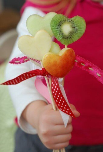 heart fruit pops