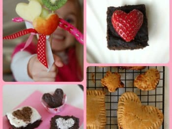 valentines food 350x263 - Dark Chocolate Whole-Wheat Brownies (and other Valentine's Day Ideas!)