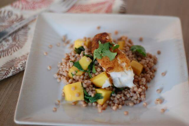 Recipe moroccan fish with mango and couscous 100 days for Moroccan fish recipe