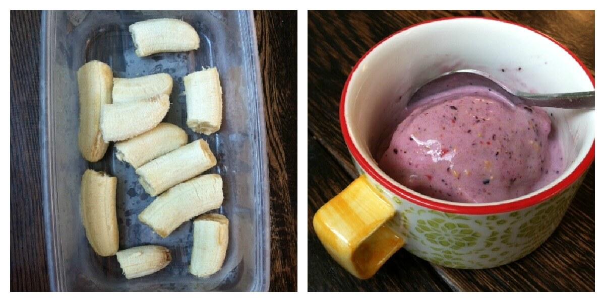 breakfast ice cream collage