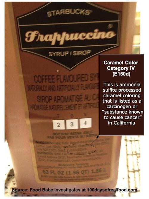 Frapp Caramel2 - Food Babe Investigates: Sabotaged at Starbucks