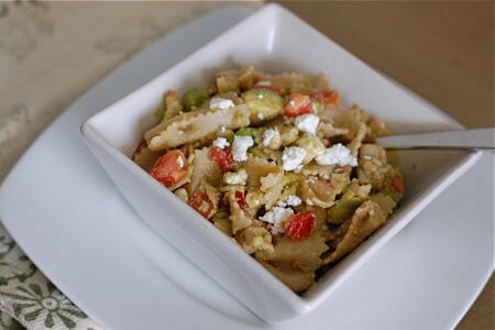 Feta Pasta Salad Recipe from 100 Days of Real Food