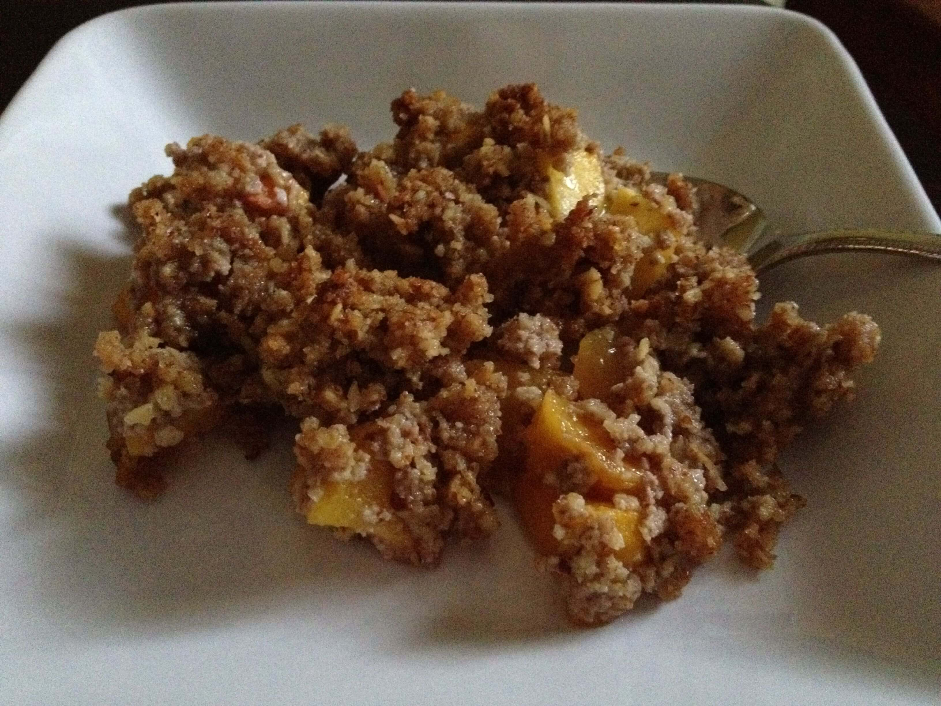 Peach Crisp Recipe from 100 Days of Real Food - 100 Days of Real Food