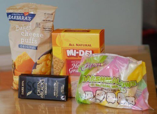 Non-Real Junk Food for Camping Trip