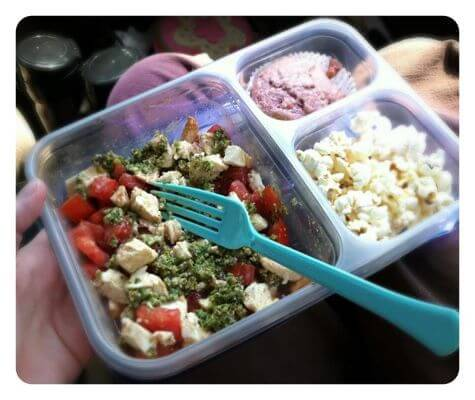 Adult caprese lunch