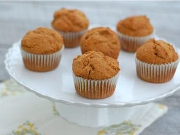 muffins2 350x263 - Whole Grain Pumpkin Muffins