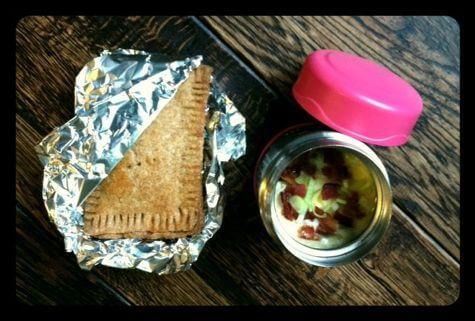 pop tart and soup lunch