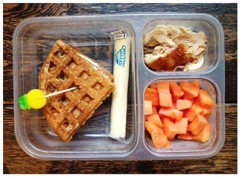 waffle sandwich with papaya