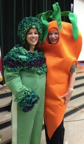Dressed Up as Brocolli and a Carrot