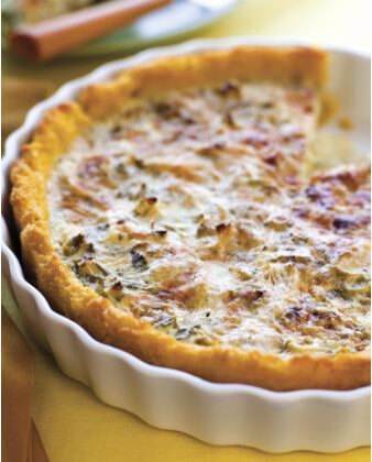 Ancient-Grains-Artichoke-Rosemary-Tart-with-Polenta-Crust