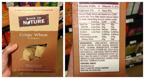 Back to Nature - misleading products on 100 Days of Real Food
